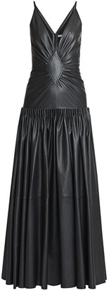 Loewe Leather Drop-Waist Dress