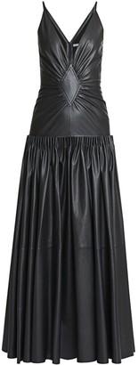 Loewe Leather Drop-Waist Dress