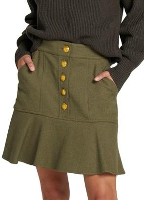 A.L.C. Marnell Button Skirt