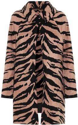 Alaia Zebra jacquard cocoon coat