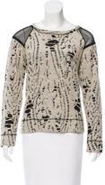 Sea Distressed Scoop Neck Sweater