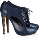 Georgina Goodman Roxy cutout suede and leather ankle boots