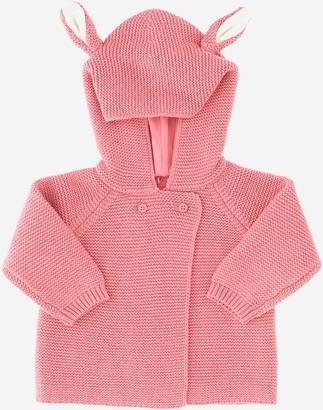 Stella McCartney Hooded Cotton Blend knit Girl's Cardigan