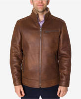 Buffalo David Bitton Men's Brown Faux Leather Jacket