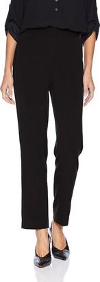 Rafaella Women's Petite Curvy Fit Short Gaberdine Trouser