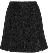Carven Matelassé Satin Mini Skirt