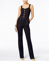 INC International Concepts Denim Straight-Leg Jumpsuit, Only at Macy's