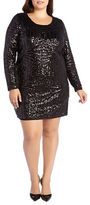 Addition Elle Love And Legend Plus Size Sequined Dress