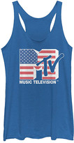 Fifth Sun Women's Tee Shirts ROY - MTV Royal Heather American Flag Racerback Tank - Women & Juniors