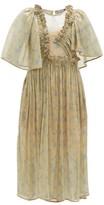 Preen by Thornton Bregazzi Parmena Ruffled Sequinned-tulle Dress - Womens - Cream Multi
