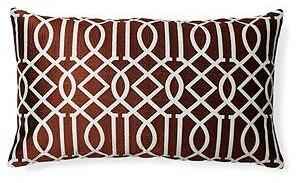 Divine Home Vail Trellis Indoor/Outdoor Lumbar Pillow Color: Dark Brown
