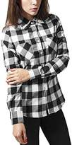 Urban Classics Women's Ladies Checked Flanell Shirt