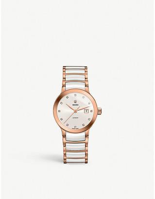 Rado R30183742 Centrix rose gold and ceramic watch