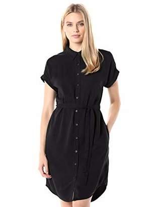Daily Ritual Tencel Short-Sleeve Shirt Dress Casual,XL