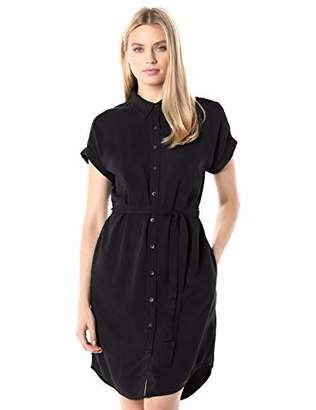 Daily Ritual Tencel Short-Sleeve Shirt Dress Casual,XS