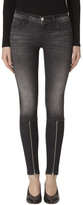 J Brand 620 Mid-Rise Super Skinny In Black Heath