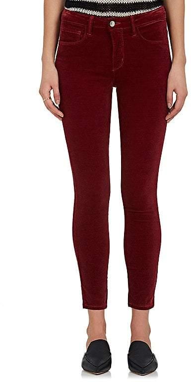 L'Agence Women's Margot Velvet Skinny Jeans