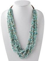 Barse Amazonite & Leather Necklace
