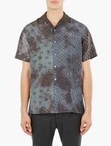 Lanvin Panelled Short-Sleeved Silk Shirt