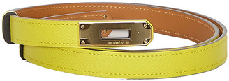 Hermes Yellow Epsom Leather Kelly Belt