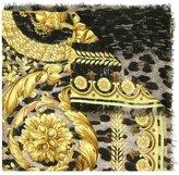 Versace baroque leopard print scarf