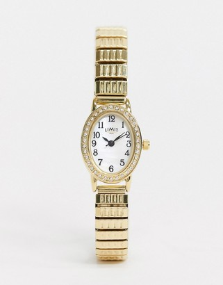 Limit expandable watch in gold with oval dial