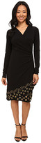 MICHAEL Michael Kors Long Sleeve Grommet Hem Wrap Dress