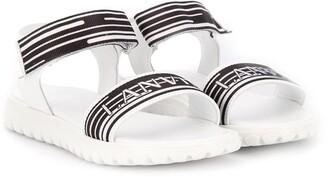 Lanvin Enfant Logo Touch-Strap Sandals