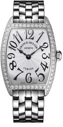 Franck Muller Cintree Curvex White Gold & Diamond Bracelet Watch