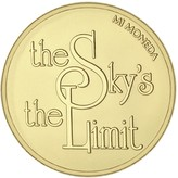 Mi Moneda Sky & Stronger gold-plated coin - small