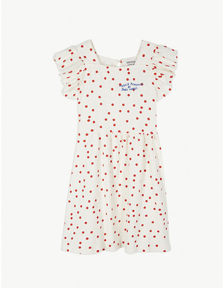 Bobo Choses Polka dot ruffled cotton dress 4-11 years