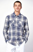 RVCA Neutral Plaid Flannel Long Sleeve Button Up Shirt