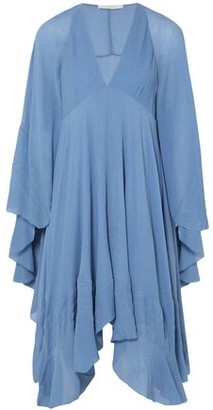 Chloé Ruffled Crinkled-silk Dress