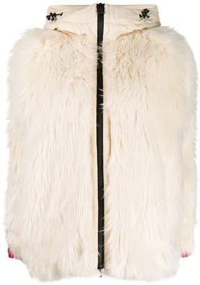 MONCLER GRENOBLE Faux-Fur Zipped Jacket