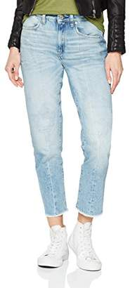 G Star Women's Lanc 3D High Waist Straight Ripped Jeans