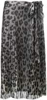 Haider Ackermann leopard print pleated skirt