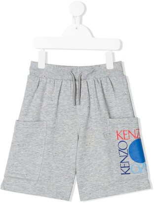 Kenzo Kids Printed Logo Patch Pocket Shorts