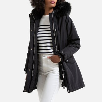 Schott Helens Parka with Faux Fur Hood and Pockets