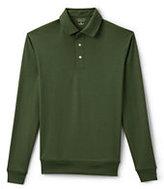 Lands' End Men's Long Sleeve Supima Banded Bottom Polo Shirt-Boreal Moss