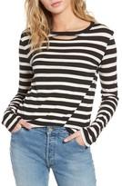 Pam & Gela Women's Stripe Long Sleeve Top