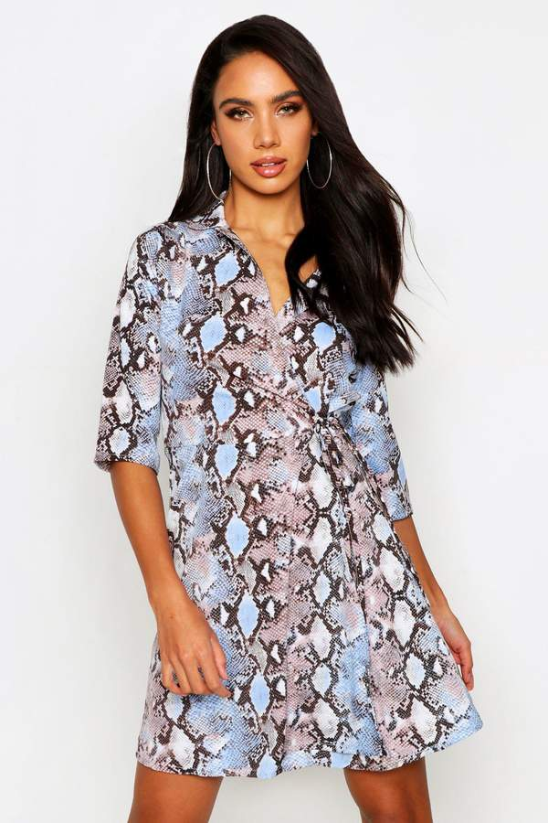 6a64c5179af7a boohoo Tie Waist Dresses - ShopStyle