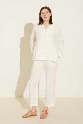 Mansur Gavriel Linen Pyjama Shirt - White