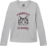 Juicy Couture Grey Glitter Cat Print Tee