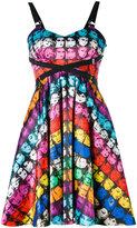 Jeremy Scott face print mini dress