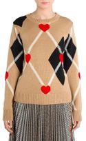 MSGM Heart Argyle Sweater