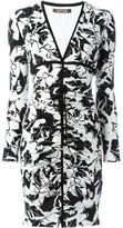 Roberto Cavalli ruched printed dress