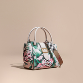 Burberry The Medium Buckle Tote in Peony Rose Print Leather