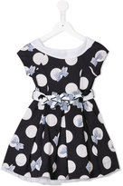 Lapin House - polka dots flared dress - kids - Cotton/Polyamide/Spandex/Elastane/Tactel - 6 yrs