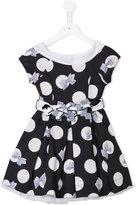 Lapin House - polka dots flared dress - kids - Cotton/Polyamide/Spandex/Elastane/Tactel - 8 yrs