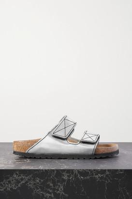 Proenza Schouler + Birkenstock Arizona Topstitched Metallic Leather Sandals